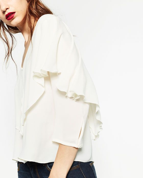 Image 3 of V-NECK BLOUSE from Zara