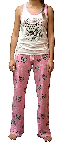 ThinkGeek :: Soft Kitty Ladies' Pajama Set