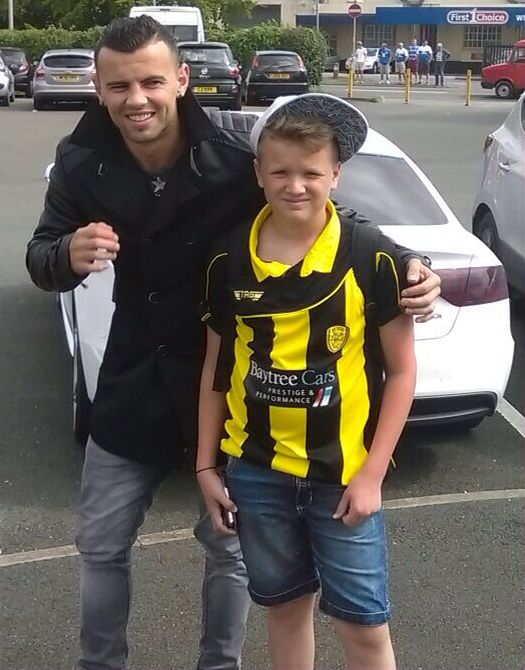 Me and burton Albion's loanee Zeli Ismail on loan from Wolverhampton wanderers