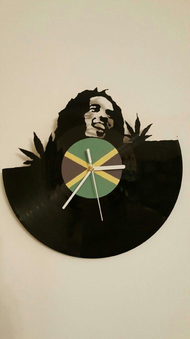 Vinyl clock - Bob Marley