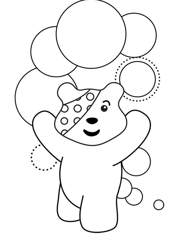 Pudsey Bear Colouring Template Classroom ideas
