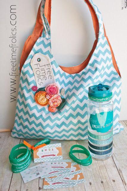 Free Time Frolics: Tag Along Tote Bag Tutorial + Giveaway