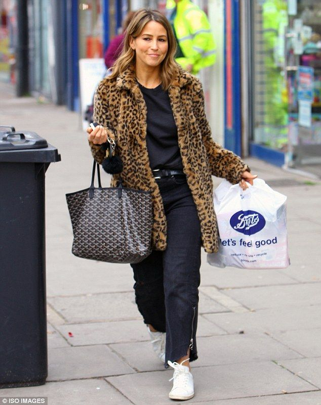 Rachel Stevens sports stylish leopard print coat #dailymail