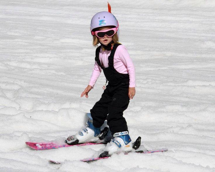Cute!  Downhill skiing ...