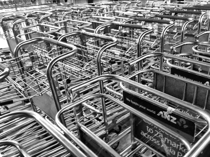 Sea of trolleys