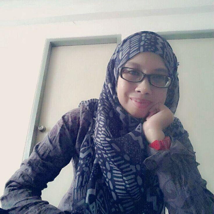 Hijab with glass