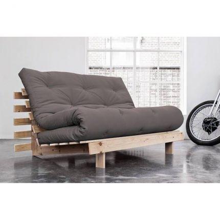 Le canapé convertible futon ROOTS d'inspiration japonaise arbore un design innovant avec une touche de douceur scandinave. Sa structure en pin massif apporte à ce canapé futon ce petit plus irrésistible qui ne passera pas inaperçue. Accordez vous un moment de détente et de bien être grâce au véritable matelas futon capitonné qui vous apportera un excellent confort d'assise et de relaxation. Le canapé ROOTS est réglable en trois positions et vous permettra d'avoir à porter de ma...