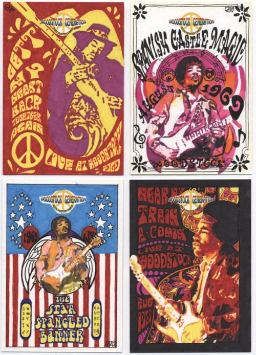 really feeling the woodstock posters for wall decor