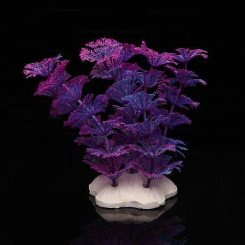Artificial-Plant-Plastic-Water-Violet-blue-decoration-Aquarium-ZH