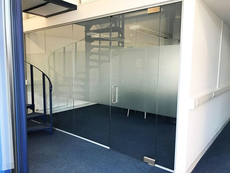 office partition with door. from glass at work office partition with frameless pivot door for sinewave energy