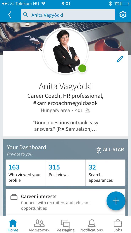 #vagyóckianita #karriercoachmegoldasok #karrier #coaching #coach #linkedin