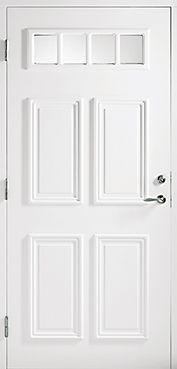 Köpa ytterdörr i trä som är isolerad, säker, tät & med fönster