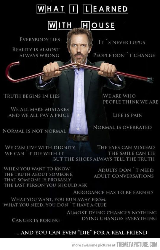 Captivating Dr House Quotes For Facebook   Google Search