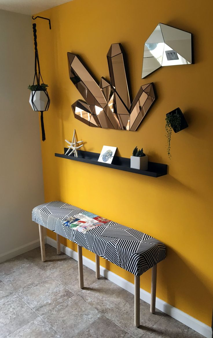 3 Room Hdb Accent Wall: Mustard Yellow, Yes Please. This Entryway Wall In Sunny