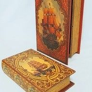 "Decoratiuni vintage - set cutii carti ""Corabii"""