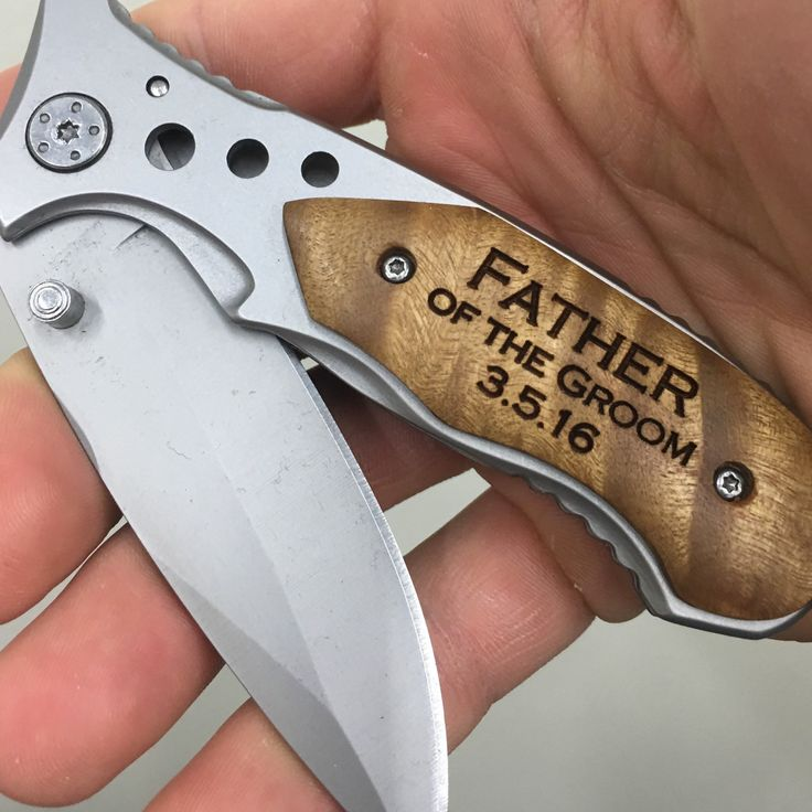 Father of the Groom Gift, engraved pocket knife