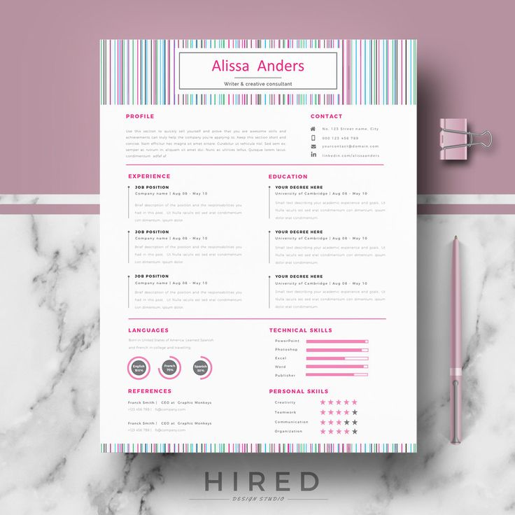 73 best Modern, Professional  Elegant Resume Templates images on - word resume template mac