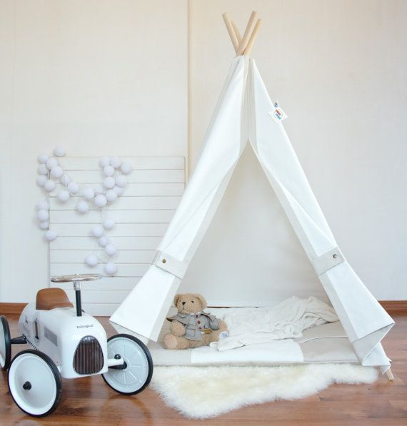White canvas teepee,play tent,childrens teepee,kids teepee,baby shower,tipi,teepee tent,kids teepee tent,teepee tent for kids,tipi tent