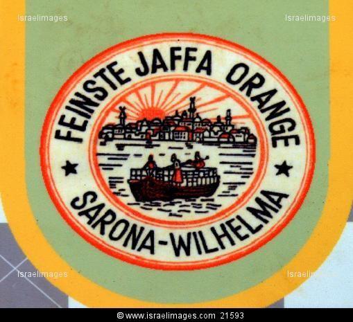 Jaffa Oranges Label By Sarona-Wilhelma Templers' German Colony In Tel Aviv