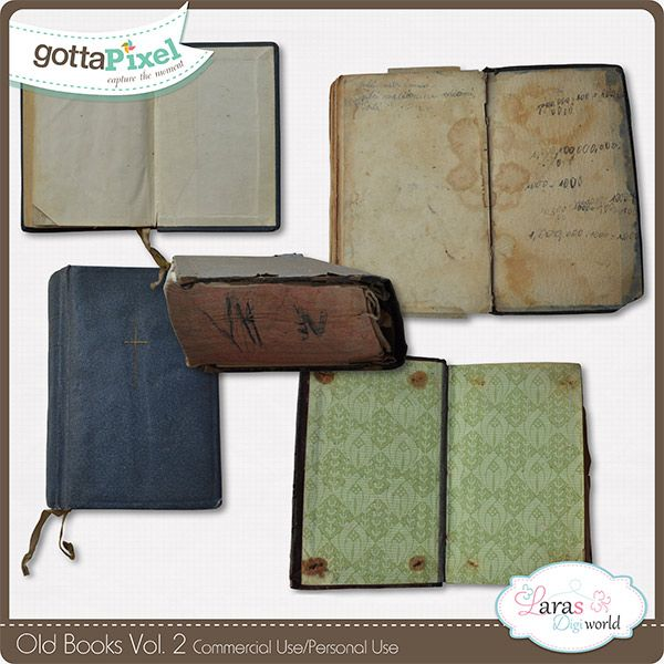 Old Books Vol. 2 :: Gotta Pixel Digital Scrapbook Store  #larasdigiworld #gottapixel