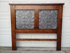 Pine Headboard with Tin Ceiling Tile inserts, Kreg Joints