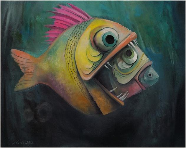 Podwodne rewolucje, 40x50cm, 2012