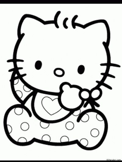 hello kitty games coloring pages for kids - Kitty Doctor Coloring Pages