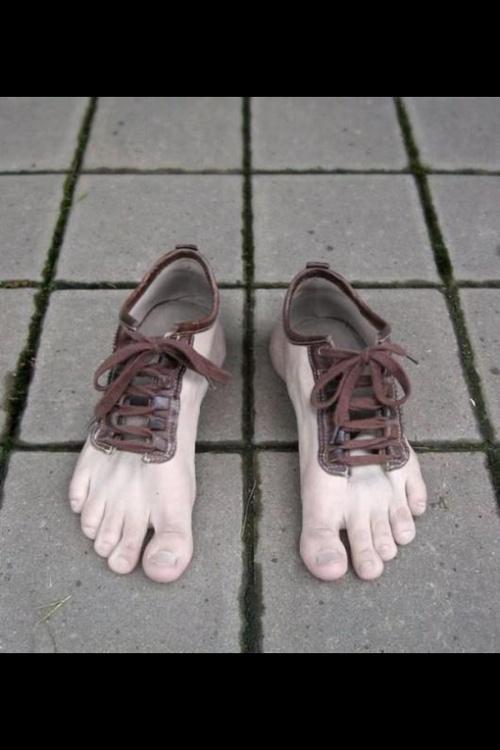 Slip your feet into them