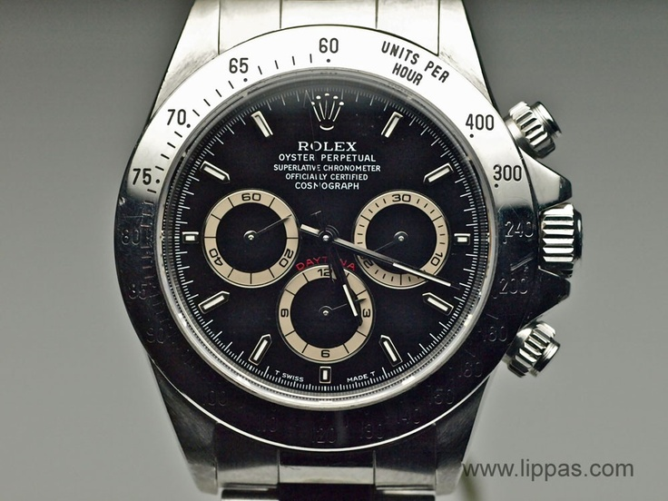 Lippa's Estate and Fine Jewelry - Stainless Steel Rolex Daytona with a Patrizzi Dial  (http://lippas.com/stainless-steel-rolex-daytona-with-a-patrizzi-dial/)