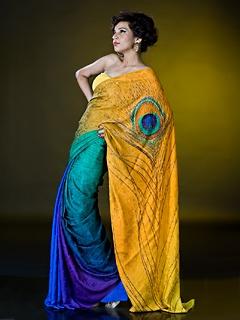Satya Paul - SAREES - Printed & Embellished Sarees - RD2875
