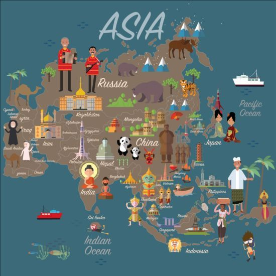 Image result for asia map