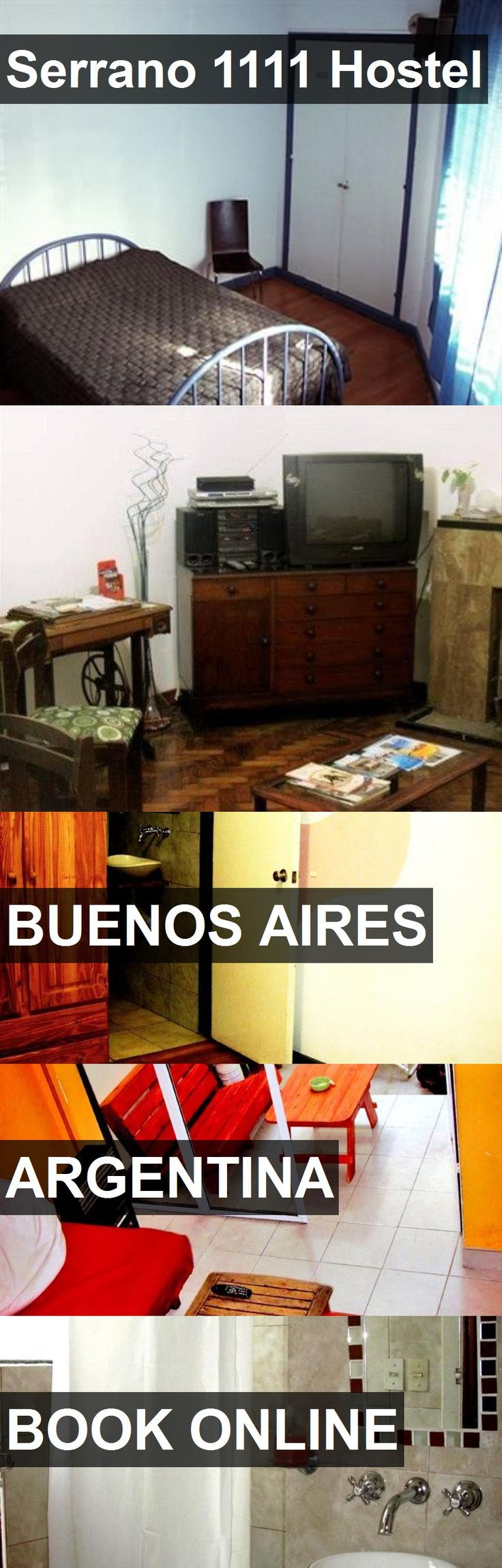 Serrano 1111 Hostel in Buenos Aires, Argentina. For more information, photos, reviews and best prices please follow the link. #Argentina #BuenosAires #travel #vacation #hostel