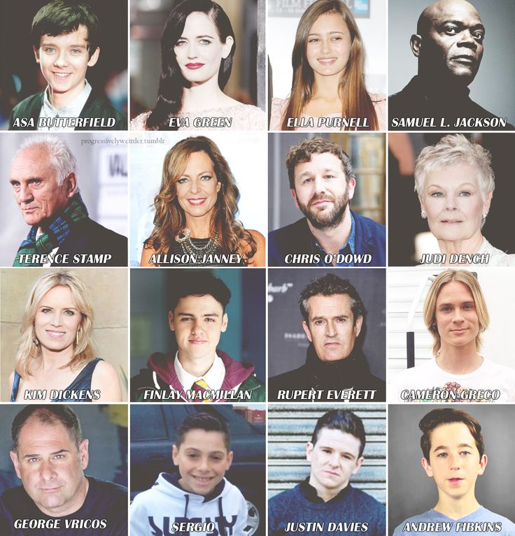 miss peregrine s home for peculiar childern movie cast