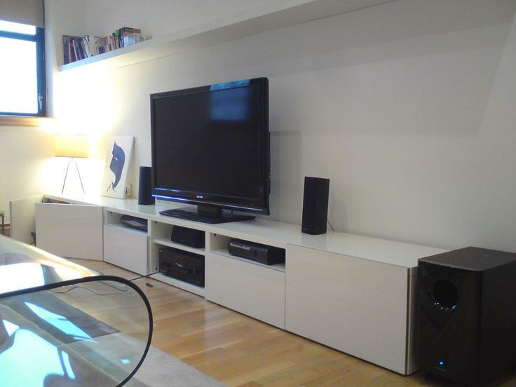 14 best tv kast images on pinterest live home and tv units - Meuble tv metal ikea ...