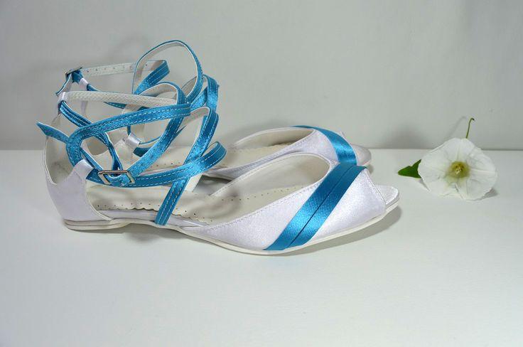 svatební obuv, společenksá obuv, spoločenské topánky, topánky pre družičky, svadobné topánky, svadobná obuv, obuv na mieru, topánky podľa vlastného návrhu, pohodlné svatební boty, svatební lodičky, svatební boty se zdobením,topánky pre nevestu, biela a tyrkysová, balerínky, sultanky