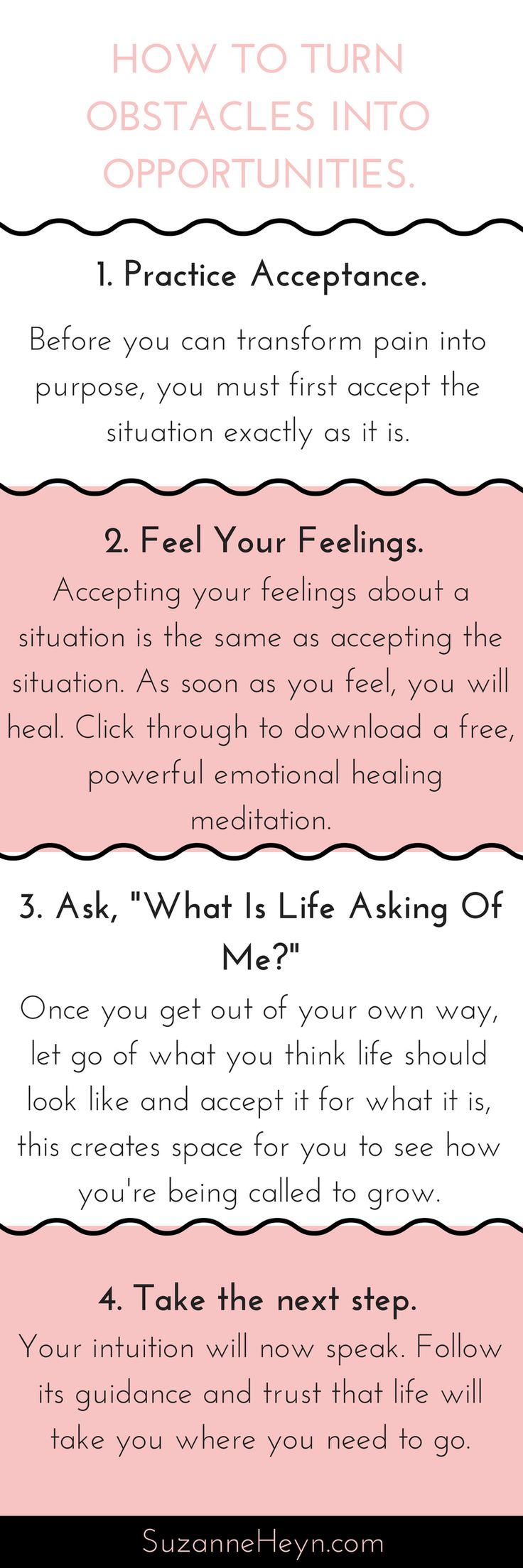 Learn how to turn life challenges into opportunities. Click through for a free emotional healing meditation! spirituality self-love self-care yoga inspiration