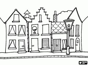Town coloring page | Craft Ideas | Pinterest | Shops ...