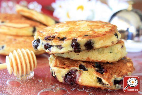 Ricetta Pancake di mirtilli e ricotta con yogurt e miele - Gordon Ramsay
