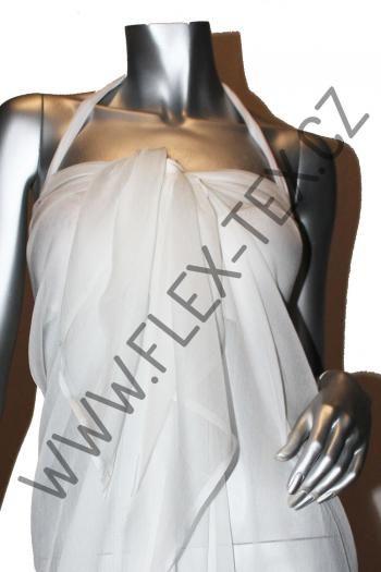 IDE 289 HEDVÁBNÝ ŠIFON  Složení:Hedvábí 100% Barva:bílá Možné využití:sukně, halenky, šaty, společenský oděv Typ látky:tkanina Popis materiálu:Hladký, Splývavý, Průhledný Gramáž:29 g/m2 Šířka:135 cm Dostupnost:Skladem (1.7 m) Cena bez DPH:164,46 Kč Cena s DPH:199,00 Kč