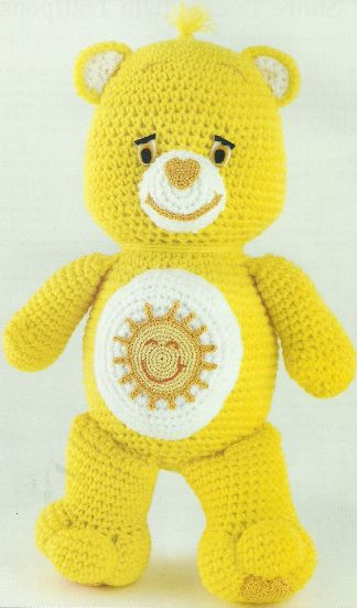 Crochet Carebear pattern - ahhh childhood memories :)