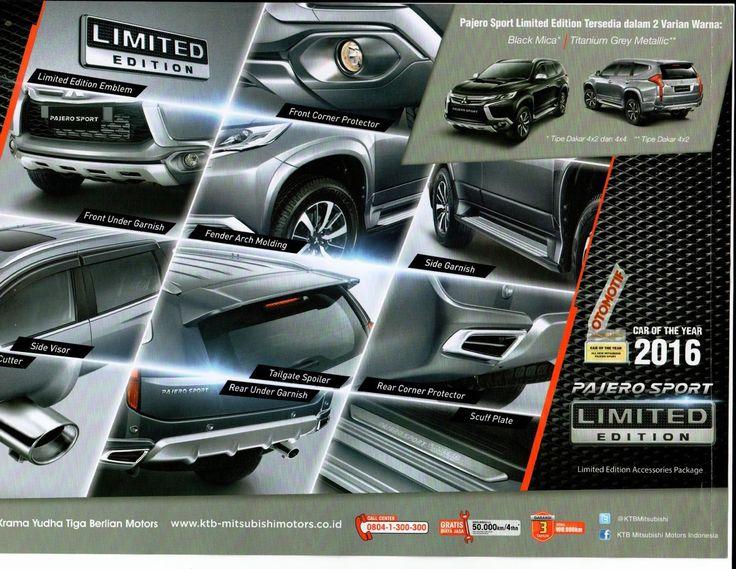 "PROMO MITSUBISHI 2016            ""SALAM BRAND NEW DAY""    Pajero Sport Limited Edition  diperkenalkan di GIIAS 2016 untuk merayakan tinggin..."