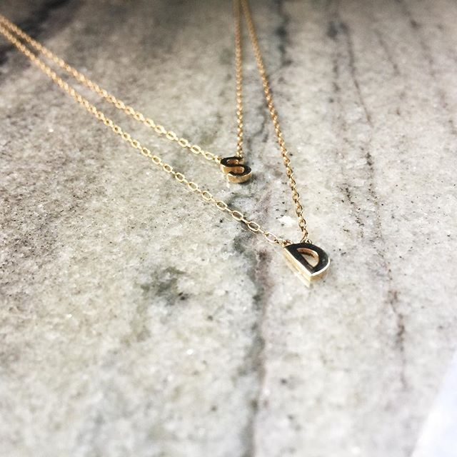 Double Mini Minimal Block Letter Pendant Necklace available in Yellow, Rose and White Gold ⚡️Customize yours now! .  .  .  .  .  #jenniferfisher #jenniferfisherjewelry  #gold #silver #jewelry #style #ootd #personalstyle #instagood #instastyle #instafashion #instadaily #instalike #pendant