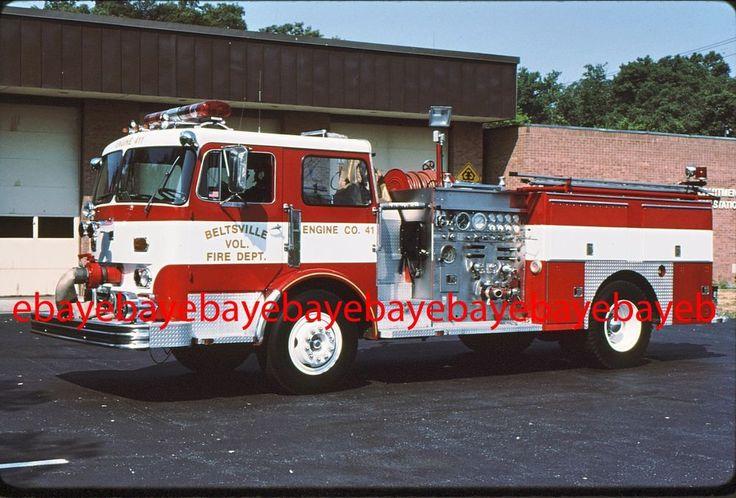 Fire Apparatus Slide, Engine 41, Beltsville / MD, 1969 Ward LaFrance