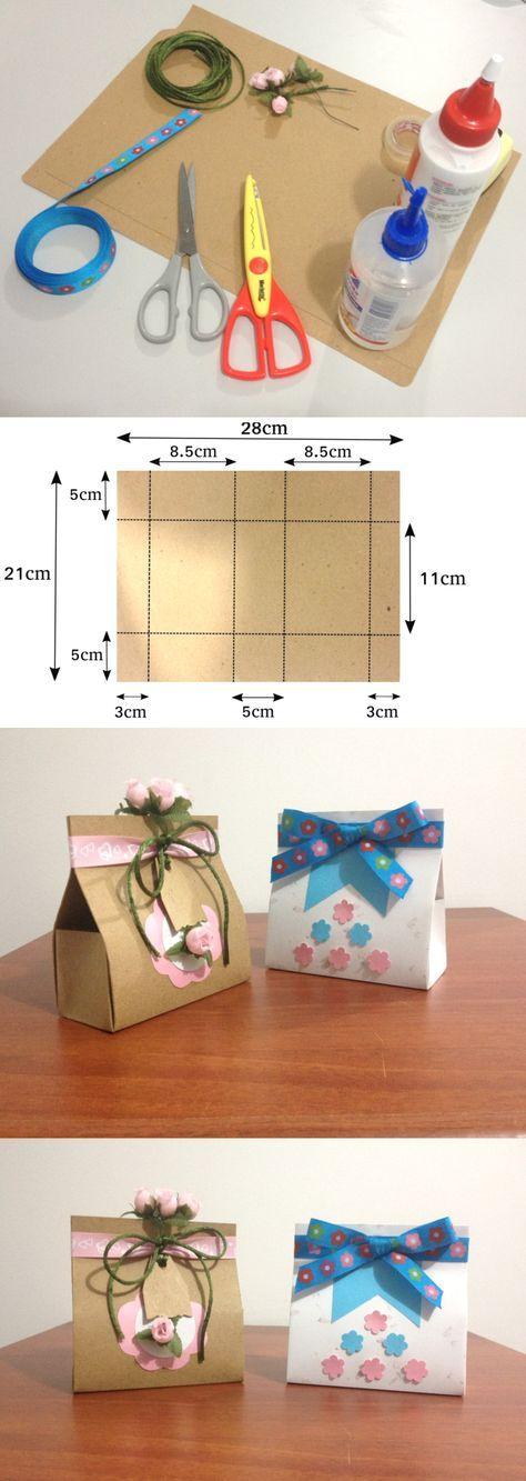 Te enseño a hacer una cajita de regalo muy sencilla. Puedes complementarla y hacer otras ideas de cajitas en otros tutoriales de este canal.