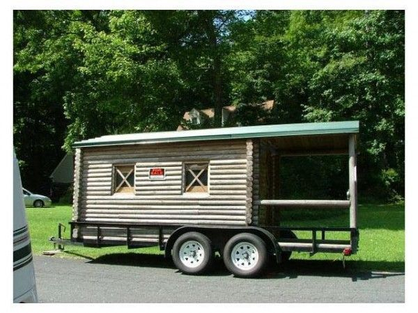 Tiny Log Cabin On Wheels Log Cabin On Wheels With
