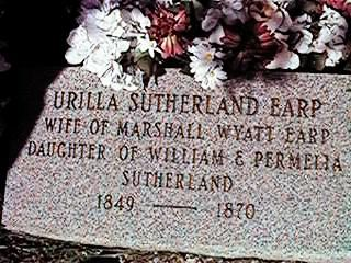 Urilla Sutherland Earp (1849 - 1870) - Find A Grave Photos