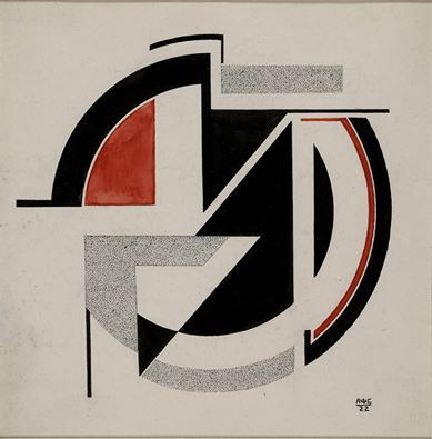Antonina Sofronova (Russian,1892- 1966) Geometric Composition,1922