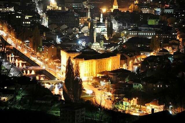Sarajevo view by night