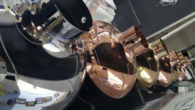 AriaQueen Siri Pendant Lightinf Colors : Copper, Chrome, Gold  Material : Metal, fabric cable, ceramic  socket