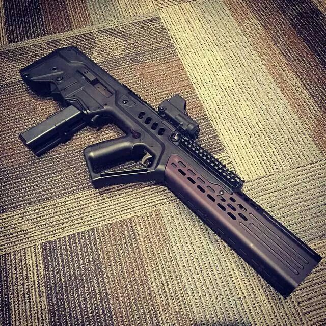 Rat worx/manticore arms suppressor on a Tavor. Wow. Spacey.